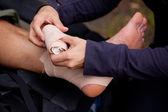 Ankle Tensor Bandage — Stock Photo