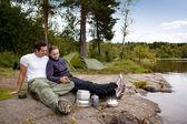 Outdoor Camping Food — Zdjęcie stockowe