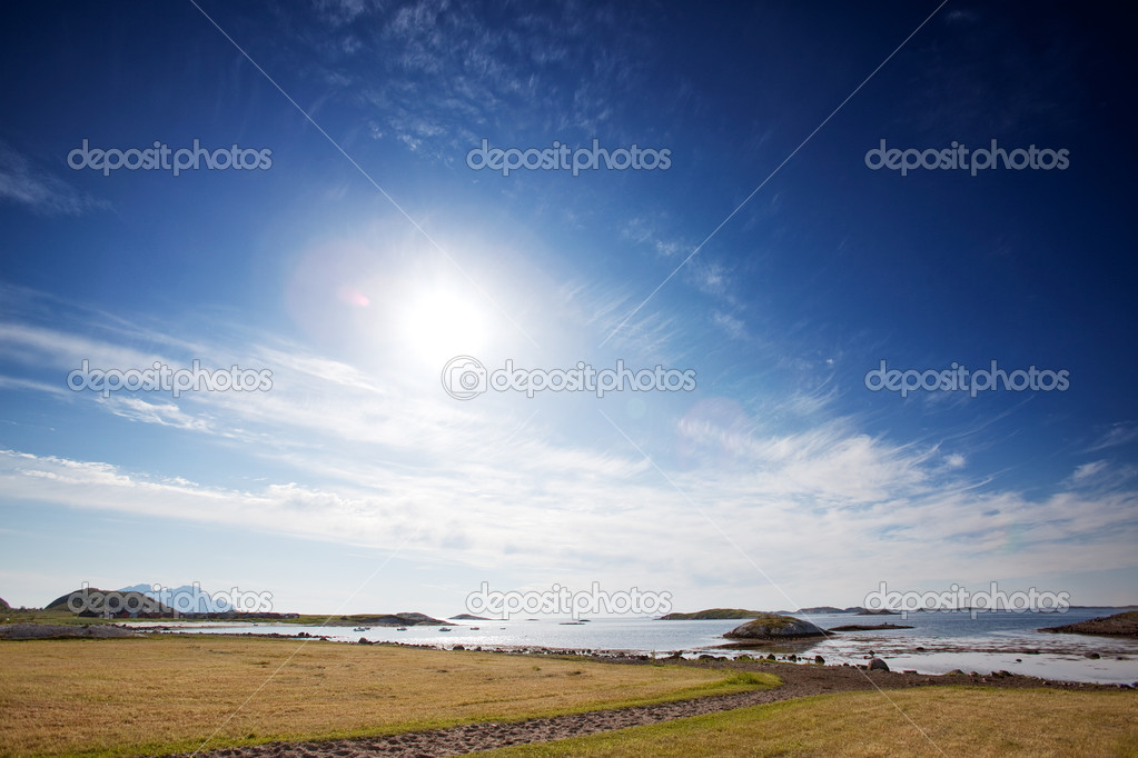A coastal landscape in northern Norway  Stock Photo #5693102
