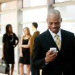 Business Man with Smart Phone — Stock Photo #5701906