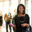 Business Woman with Smart Phone — Stock Photo