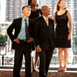 Stock Photo: Business Team Looking to the Side