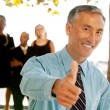 Thumbs Up Business Man — Stock Photo