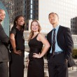 Stock Photo: Business Team Look Up