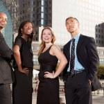 Business Team nachschlagen — Stockfoto