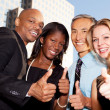 Business Thumbs Up — Stock Photo