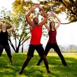 Jumping Jacks - Stockfoto
