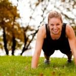 Push-Ups Exercise — Stock Photo
