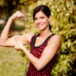 Stock Photo: Muscle Woman