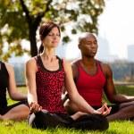 City Park Yoga — Stock Photo