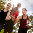 Fitness Thumb Up — Stock Photo