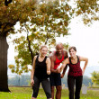 Stock Photo: Exercise Park Happy