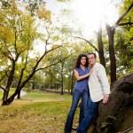 Park Portrait Engagement — Stock Photo #5703679