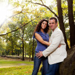 engagement portrait de parc — Photo