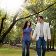 Park Couple Walk — Stockfoto