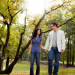 Park Couple Walk — Stock Photo