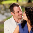 Happy Kiss Couple — Stock Photo #5703749