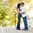 Smile Engagement Couple - Stockfoto