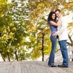 微笑订婚情侣 — Stock fotografie