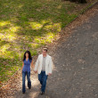 Park Walk Couple — Stock Photo