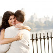 Hug Smile Woman - Stock Photo