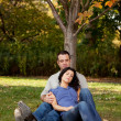 Couple Rest Park — Stock Photo #5704096