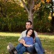 Couple Relax Park — Stock Photo #5704145