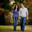 Happy Couple Walk — Stock Photo