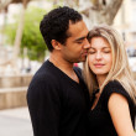 European Couple Hug — Stock Photo