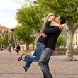 Lift Hug - Happy European Couple — Stock Photo #5706247