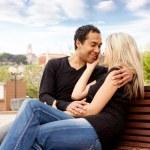 couple de français heureux — Photo