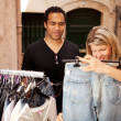 Stock Photo: Epensive Clothes Shopping