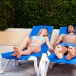 Pool Chair Holiday — Stock Photo