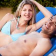 Happy Beach Couple — Foto Stock