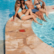 Pool Friends Relax — Stock Photo