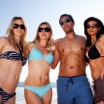Beach Friends Portrait — Stock Photo
