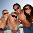 Beach Friends Group — Stock Photo
