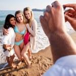 potrait de plage pour le téléphone appareil photo — Photo