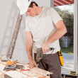 Handy Man Drilling — Stock Photo
