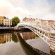 Hapenny Bridge, Dublin Ireland - Stock Photo