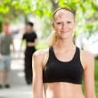 Close-up of a woman in park — Stock Photo #5708876