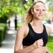 bella donna jogging — Foto Stock