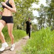 Healthy jogging in forest — Stock Photo #5709225