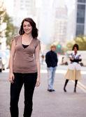 Staden kvinna — Stockfoto