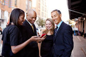 Zobrazit telefonní podnikání — Stock fotografie