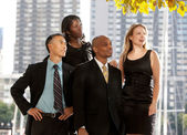 Business Team Looking to the Side — Stock Photo