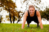 Push-Ups Exercise — Stock Photo