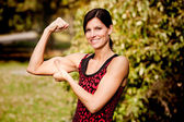 Muscle Woman — Stock Photo