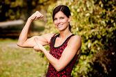 Muscle Woman — Stock Photo