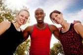 Fitness vrienden — Stockfoto